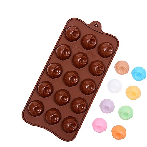 Eyeball Half Round Candy Chocolate Soap Jello Tray Mold Silicone Party maker (Ships From USA) (Ball Jello Mold)