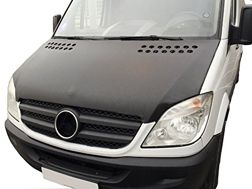 Recro Garage MERCEDES SPRINTER FRONT HOOD COVER MASK BLACK VINYL BONNET BRA STONEGUARD PROTECTOR W906
