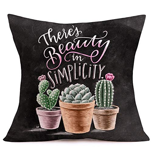 Asamour Throw Pillow Covers Summer Succulent Cactus