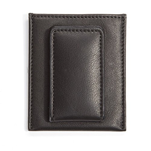 Onyx Clip Black Money - Leatherology Men's Slim Money Clip Card Case Wallet - Full Grain Leather - Black Onyx (black)