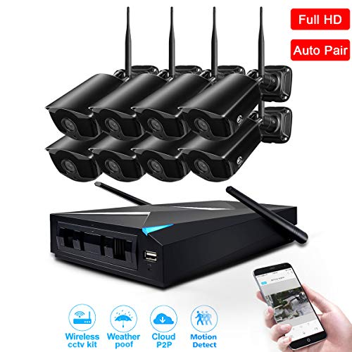 - Security Camera Wireless, JOOAN 8 Channels H.264 NVR Full HD with 8 960p Wireless Security Camera Outdoor for Homes Motion Detection CCTV Surveillance Security System Digital Video Recorder