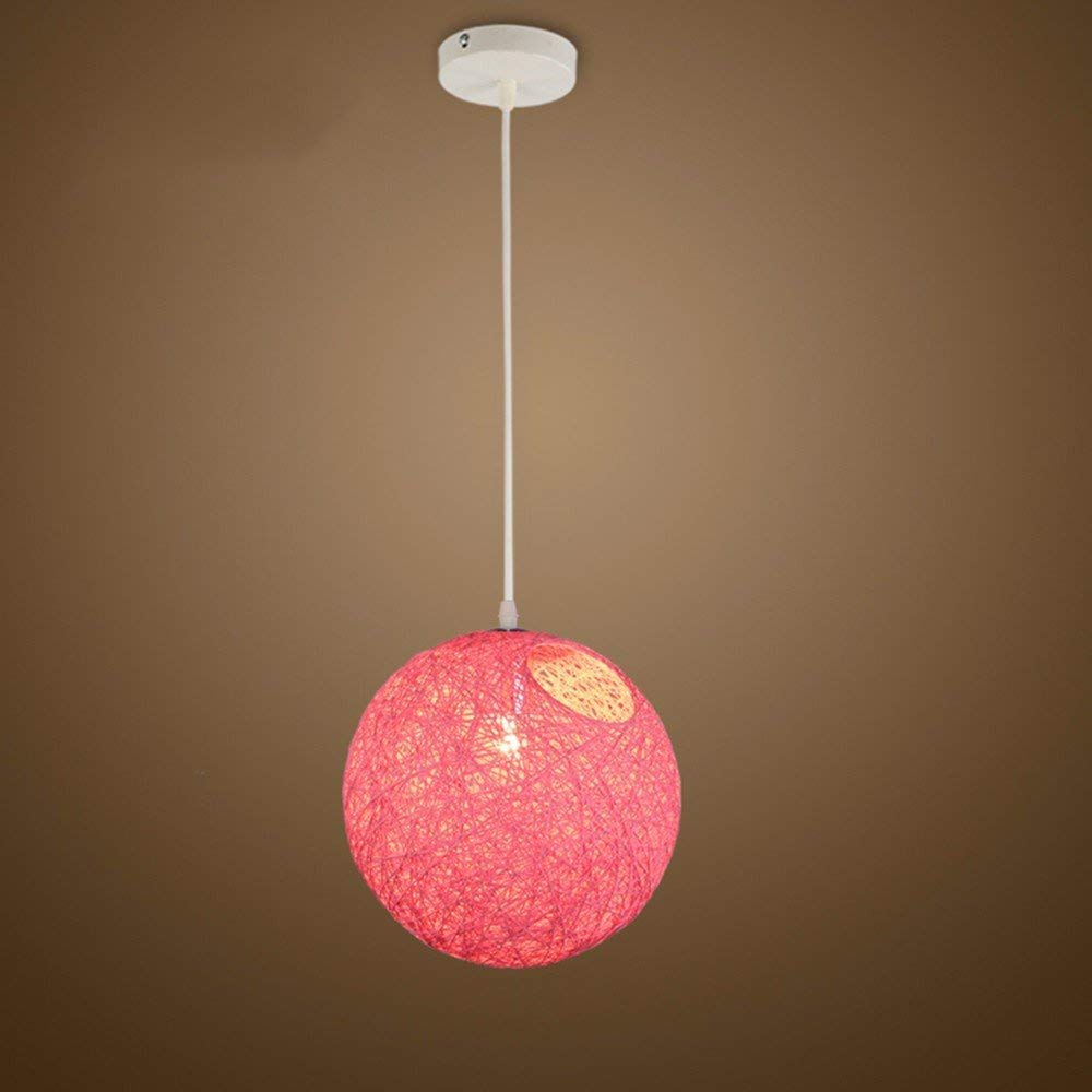EI Kreative Haushaltsbeleuchtung Schlafzimmer Wohnzimmer Persönlichkeit Lampen und Kronleuchter Nordic Ball Einstellbar Rosa Diameter30Cm