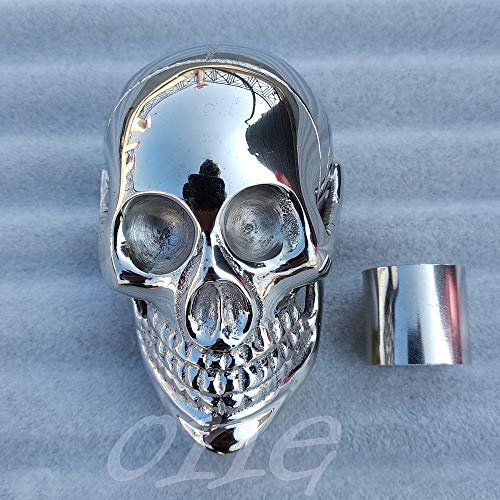 (Solid Brass Silver Skull Head Handle Design for Walking Wood Stick Canes Gift)