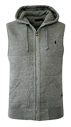 POLO RALPH LAUREN BIG AND TALL FLEECE HOODED VEST VINTAGE SA (LT, VINTAGE SA)
