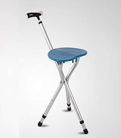 Swell Amazon Com Zjfsx Cane Seat Folding Portable With Led Light Caraccident5 Cool Chair Designs And Ideas Caraccident5Info