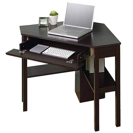 Escritorio esquinero para pequeño espacio en el hogar, escritorio ...