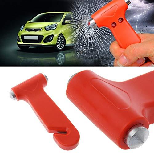 Labu Store 2 in 1 Car Emergency Safety Escape Hammer Glass Window Breaker Belt Cutter Tool