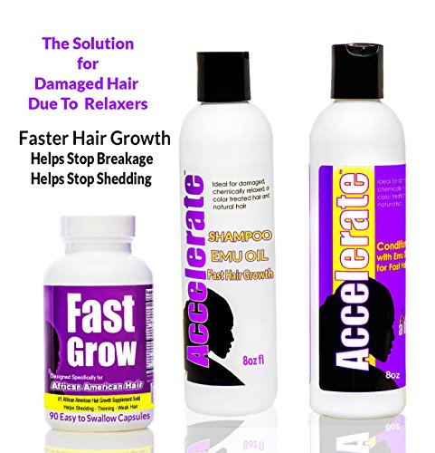 Fast Grow Black Hair Growth Vitamins with Accelerate ...