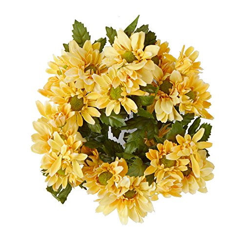 - Poly Silk Yellow Gerbera Daisy Candle Rings | By Factory Direct Craft | 2 Candle Rings