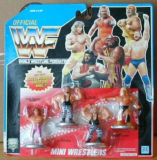 (Wwf Wwe Mini Wrestlers Bushwackers Brutus Beefcake Greg the Hammer)