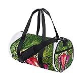 Gym Duffel Bag Watercolor Dinosaur Sports Lightweight Canvas Travel Luggage Bag