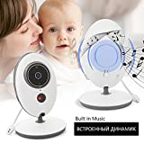 "Baby camera monitor Wireless Camera Talk-Back Audio+ Night Vision Temp Sensor+ Built-in 8 Lullaby+3.2"" LCD Screen+Baby Pet Elder Surveillance Video Monitor Nanny Cam For Home Security System (2.4inch)"