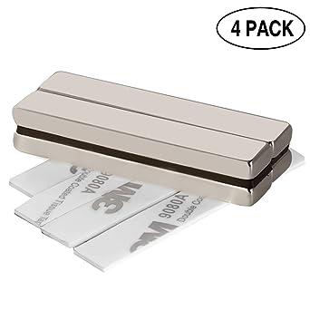 Magnettafeln. Seltenerdmagnete sehr starker Haftung f/ür Glas-Magnetboards Super Stark Kr/äftig Neodym Viereckig Ziegel Magnete-60 x 10 x 5MM Wukong 4 St/ück starker magnet Neodym Magnete