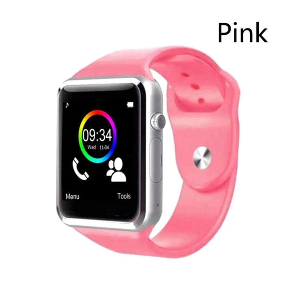 Smartwatch A1 Reloj De Pulsera Bluetooth Smart Watch Sport Podómetro con Cámara Sim Smartwatch para Android Smartphone Hombres Mujeres con Caja Rosado: Amazon.es: Relojes
