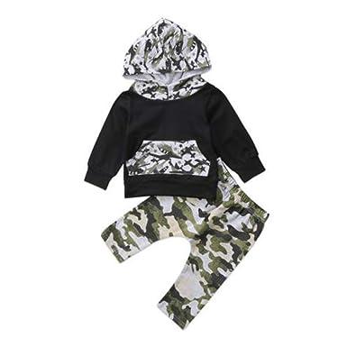 Amazon com: Baby Boys Camouflage Clothes Set, Black Long