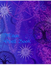 Magic Spell Book: of Shadows / Grimoire ( Gifts ) [ 90 Blank Attractive Spells Records & more * Paperback Notebook / Journal * Large * Suns & Moons ]