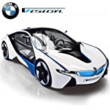 MJX Kids 1:14 Scale Licensed BMW I8 Vision with Lights & Rechargeable Batteries Vehicle, White