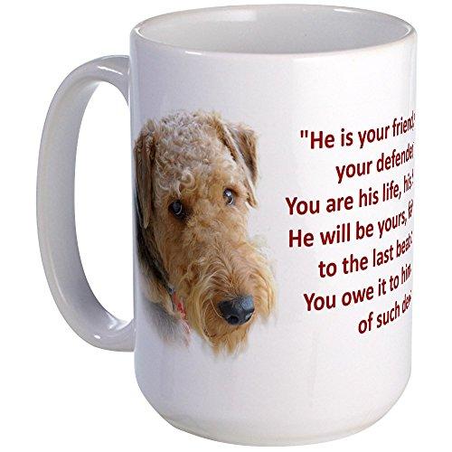 CafePress - Large Mug - Airedale Terrier - Coffee Mug, Large 15 oz. White Coffee Cup
