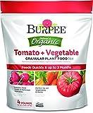 Burpee 99967 Organic Tomato and Vegetable Granular Plant Food, 4 lb
