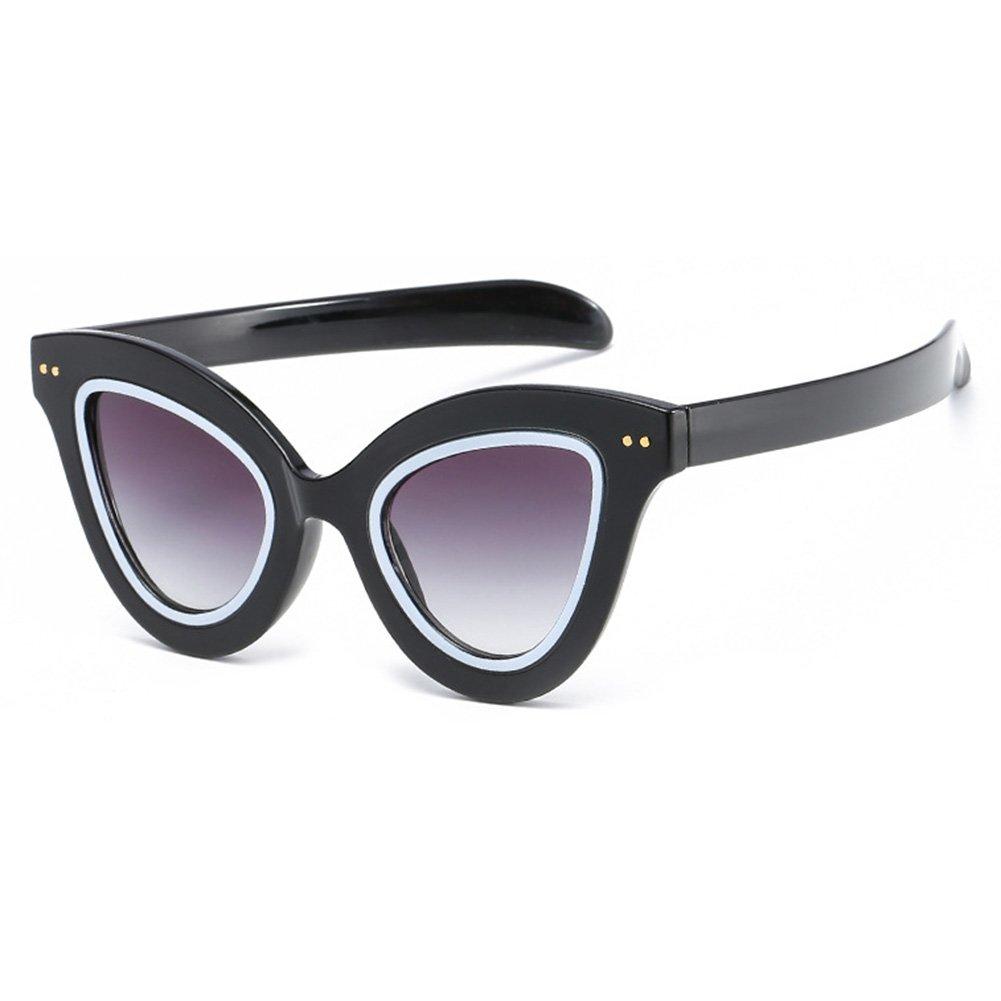Femmes Hommes Lunettes Intégrées Kootk Stylish Cat Eye Transparent Lunettes de Soleil C1 4tqXoqV