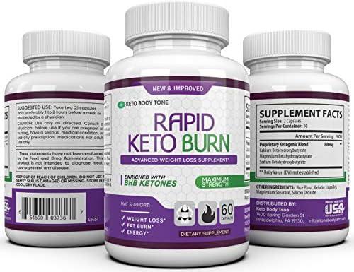 Rapid Burn Keto Fast Diet Pills - Metabolism Booster Exogenous Ketones for a Ketogenic Diet 3
