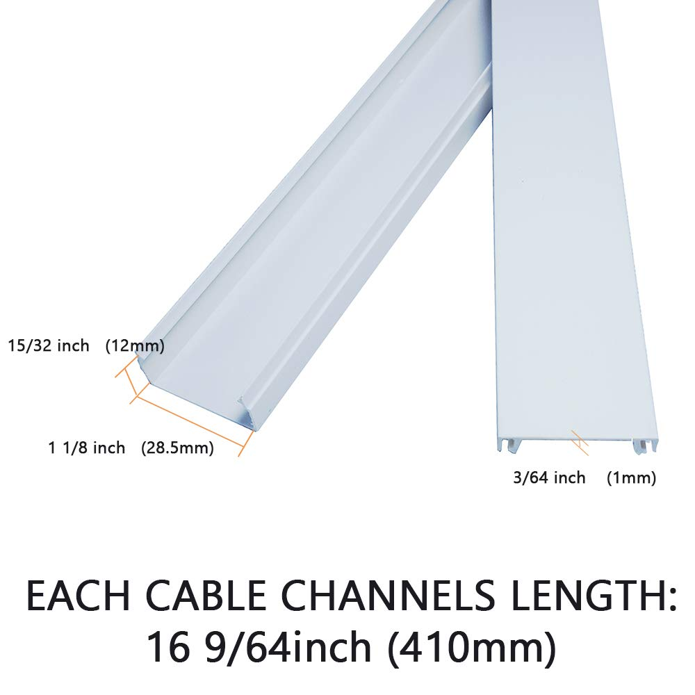 FRMSAET Cable Protector Wire Cover Wall Organizer Management System 192inch Cords Organizer Cable Concealer for Hiding Wires Garage LWH Home Office,TV -6Pcs x 32 x 1.12 x 0.51 inch