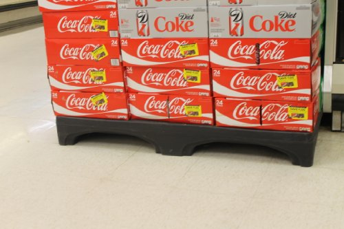 Forte Products 8002128 Half Size Display, 48'' L x 24'' W x 8'' H, Black by Forte Products (Image #1)