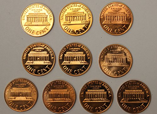 1960-1969 S Lincoln Cent Gem Proof Run 10 Coin Lot U.S. Mint