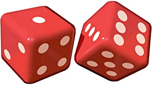 """amscan 381590 Inflatable Party Dice Decoration, 12"""", 1 piece, Red/White"""