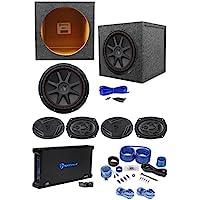 4 Rockville 6x9 Car Speakers+Kicker 12 Subwoofer+5-Channel Amplifier+Wire Kit