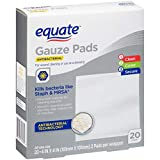 Equate Antibacterial Gauze Pads, 20.4 inches x 4 inches, 20 Ct