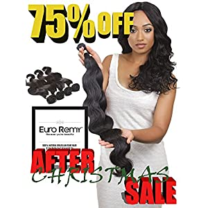 EURO REMY EREWVE001BW-S-N10 Brazilian Virgin 100% Unprocessed Human Hair Extensions Weave Bodywave 10 inches Natural