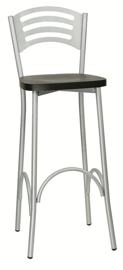 sgabello moderno da bar sedia alta imbottita in ecopelle per cucina ...