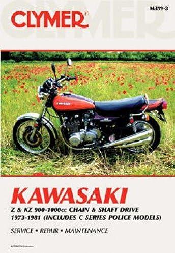 m359 3 1973 1981 kawasaki z kz900 1000 motorcycle repair manual by rh amazon com 1976 Kawasaki KZ1000 1979 Kawasaki KZ1000