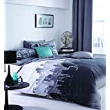 Catherine Lansfield Cityscape Duvet Cover Set [Bed size - King] by Catherine Lansfield