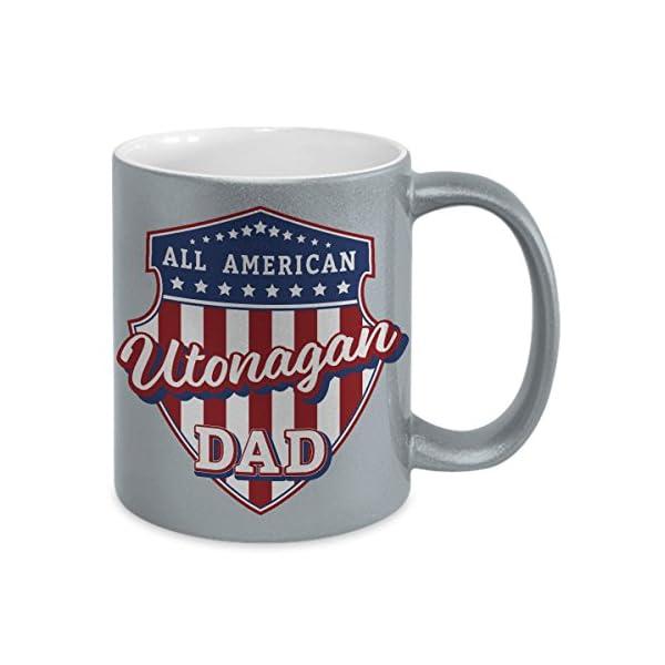 Utonagan Dad Mug - Silver Cup Gift for Dog Lover American Patriots 2