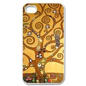 SUUER Austrian Symbolist Gustav Klimt Painting Custom Hard Case for iPhone 4 4s Durable Case Cover