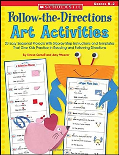 Amazon Follow Directions Art Actvy 20 Easy Seasonal Projects With Step By Instructions And Templates That Give Kids Practice In Reading