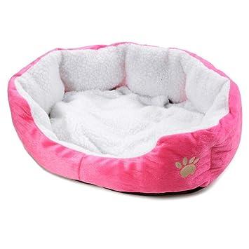 Mzdpp Cama De Perro Suave De Color Rosa Cama De Gato Cálido Arena para Perros Mascota