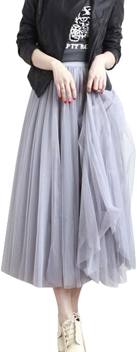 Mujeres Retro Largo Maxi Falda - Vendimia Tul Princesa Vestir con ...