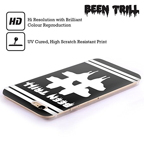 Official Been Trill Hashtag Double Stripe Black And White Soft Gel Case for Apple iPhone 5 / 5s / SE