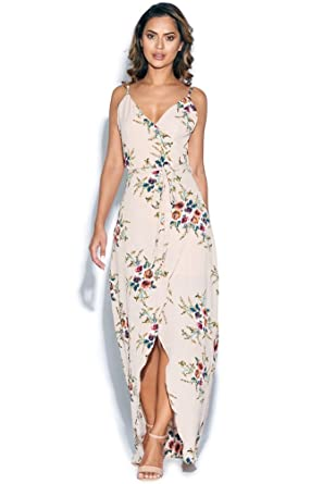 a96c0f967e Vestry Floral Wrap Maxi Dress: Amazon.co.uk: Clothing