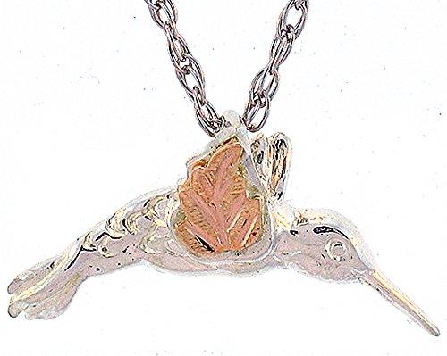 Beautiful! Hummingbird Sterling-silver yellow-gold Black Hills Gold Pendant ()