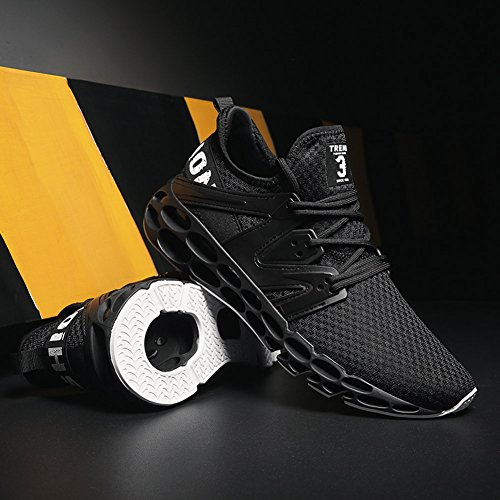 Mens Shoes Walking Athletic Running Outdoor Trainers Black Lightweight GOMNEAR Sneaker dtqw6XTd