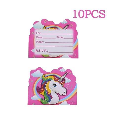 Bontand El Tema Del Partido Del Unicornio 10pcs De Dibujos