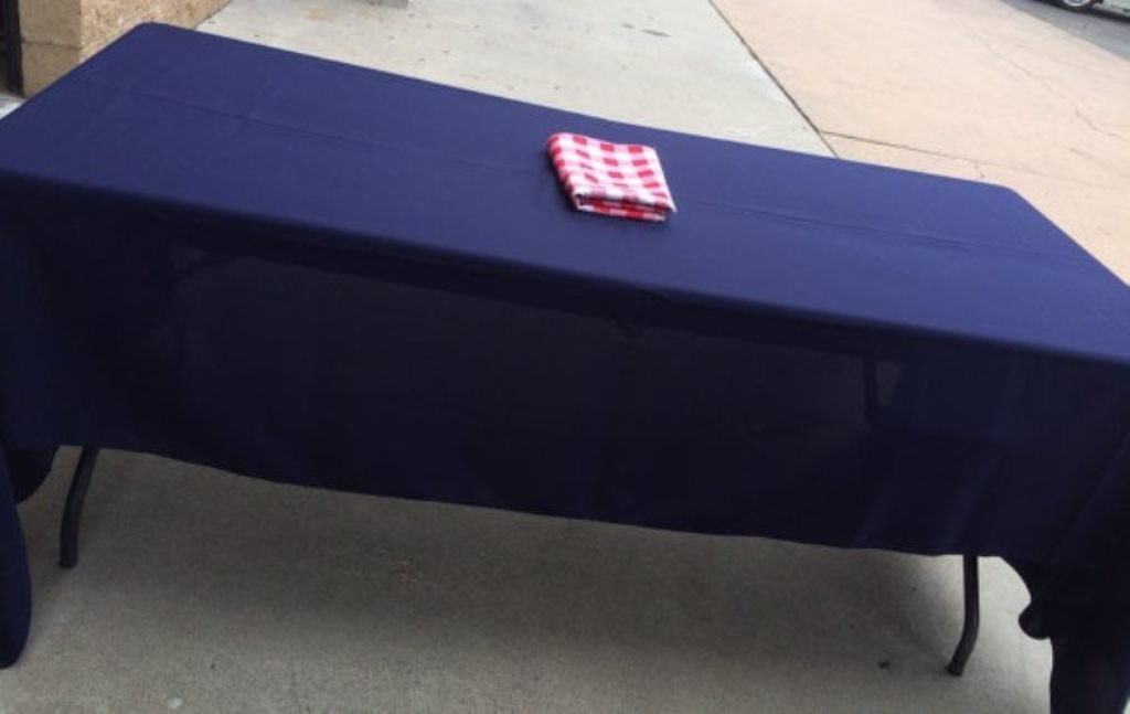 Navy Blue Gabardine Tablecloth 60 x 120 Birthday Wedding Party 4th of July memorial day