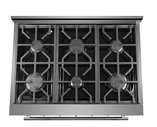 """NXR SC3611 36"""" cu.ft. Professional Style Range Oven, Stainless"""