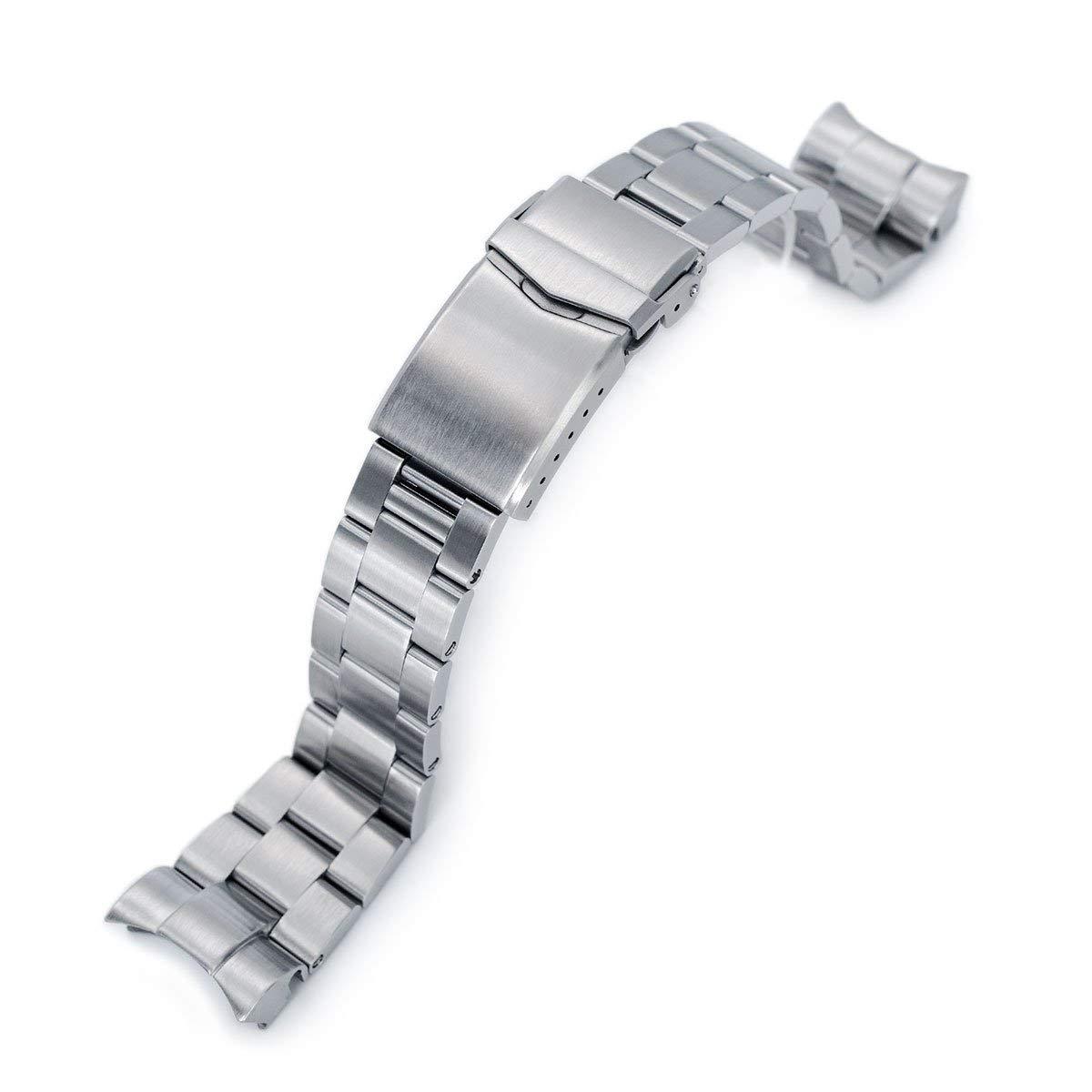22mm Super 3D Oyster 316L SS Watch Bracelet for Tudor Black Bay, V-Clasp Brushed