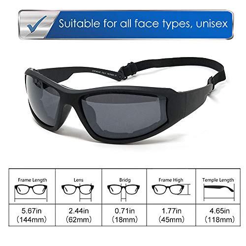 LUFF UV400 Outdoor Riding Glasses Sunglasses to Protect The Eyes from Glare, Suitable for Cycling Running Fishing Ski Golf (Black)