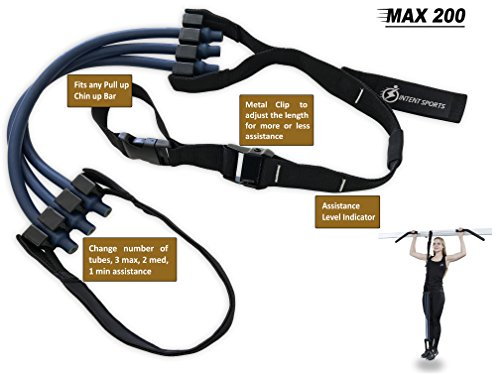 Pull Up Assist Band MAX 200 UP TO 200 LB of Assistance! Chin Up + FREE Workout eBook! High Performance Assist Bands Resistance Bands Get Stronger For Crossfit or any Workout Program.